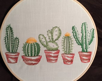 """14"""" Framed Hooped Potted Cactus (5)"""