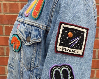 Polaroid Venus Planet Stars and Space patch