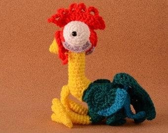 Hei Hei HeiHei Chicken Rooster from Disney's Moana Crochet Toy Doll