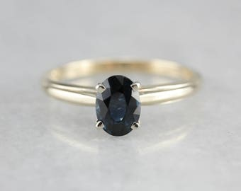 Sapphire Solitaire Ring, Sapphire Engagement, Birthstone Ring, Anniversary Ring 122CK0L7-R