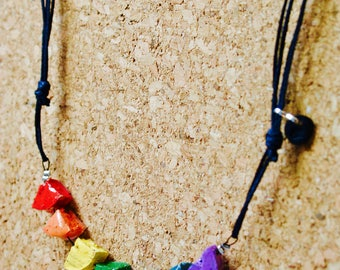 LIGHT - adjustable - personalized NECKLACE - recycled Cork - stainless steel - ecopoxy - Cap