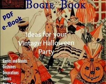 Dennison Bogie Book. Decorating Entertaining Halloween, Harvest Thanksgiving, Flapper Downton Abbey, DIY Party Planner, Digital Download