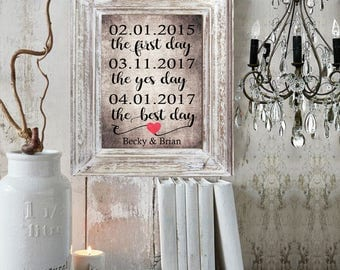 personalized wedding gift home decor wedding signs wall art bridal shower gift rustic decor wedding gift ideas anniversary gifts for women