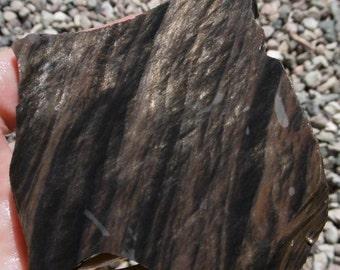 Mahogany Obsidian with Gold Sheen Slab  (65X55X7)