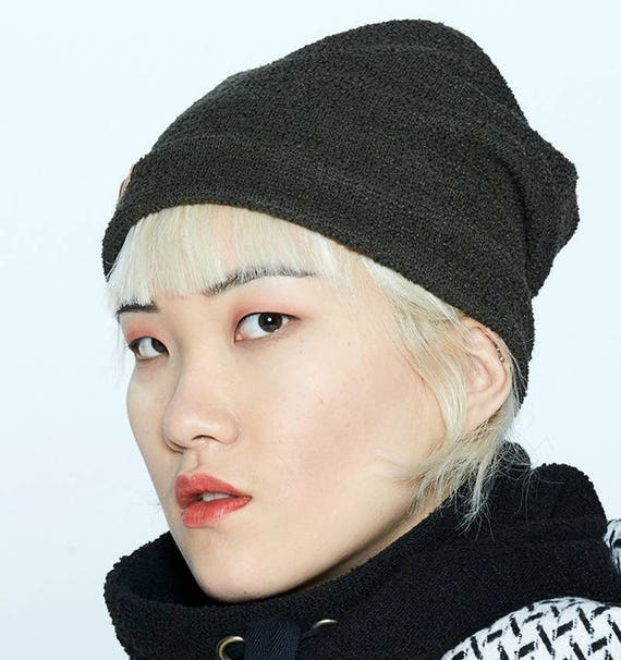 NYTVA - fall unisex toque, hat, cap - khaki green