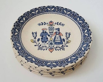 Johnson Brothers Hearts & Flowers SIX ironstone bread and butter plates