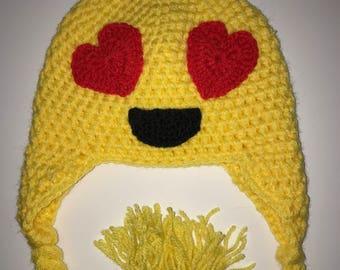 Emoji love crochet hat