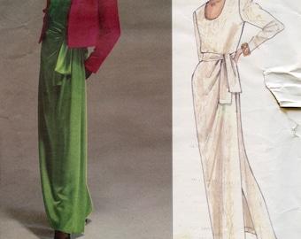 Vogue 2603 JACKET & DRESS Pattern Yves Saint Laurent Size 8 10 12 Vogue Paris Original Womens Sewing Patterns Jacket Cut Size 10 Dress UNCuT