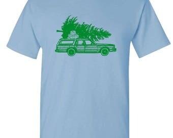 CHRISTMAS WAGON - t-shirt short or long sleeve your choice!