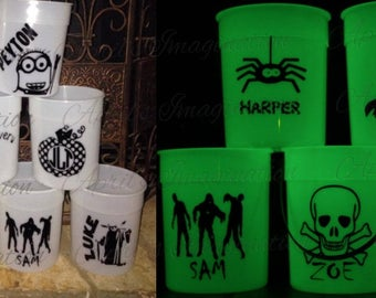Halloween Bucket; Trick Or Treat; Pail; Glow In The Dark; Personalized; Custom; Candy Pail