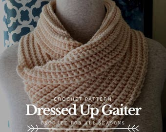 Dressed Up Gaiter Crochet Pattern