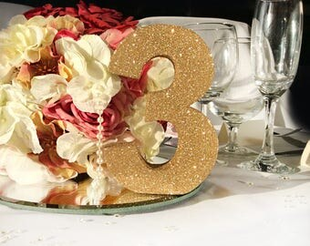 Gold Wedding table numbers, 1-10 gold table numbers, Wedding table decor, wedding reception, wooden number, table centrepieces, gold wedding