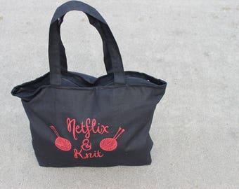 Netflix and Knit Bag