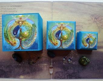 Deer Medicine Jewellery Boxes ~ Set of 3 Stackable Boxes