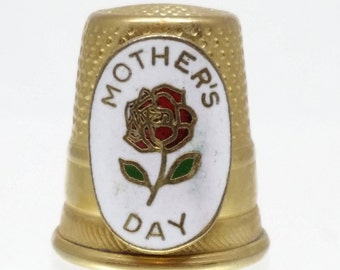 Vintage Lillian Vernon Mother's Day Thimble