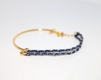 Gold Vermeil Silk Braided Friendship Stacking Bracelets