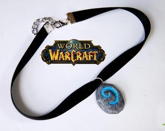 Hearthstone Choker | World of Warcraft | Hearthstone wow | Wow necklace | Gamer jewellery | Gamer accessories | Wow pendant | Gamer Choker
