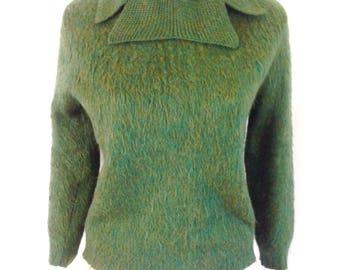 1960's Green Wool/Mohair Pullover Peter Freund Sweater Sz. M
