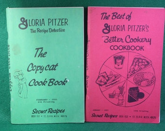Pair of Gloria Pitzer's cookbooks - The Best of Better cookery  January 1993 and  scarce copy of The Copycat Cookbook February 1993