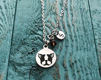 Boston terrier Lover, Boston terrier, I love my, Puppy, Boston terrier Mom, Silver Necklace, Charm Necklace, Boston terrier Gifts, Dog