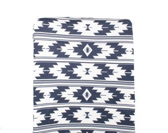 Navy Kilim Changing Pad Cover, Tribal Changing Table Cover, Minky Changing  Pad Cover,