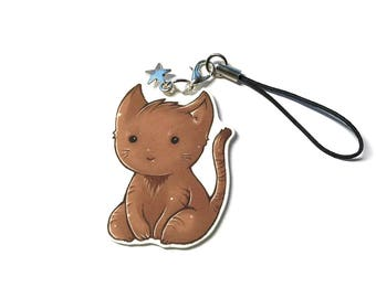 Cute Keychain Cat Charm Chibi Kawaii Pet Childrens Gift Cat Lovers Gift