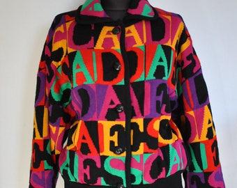 Vintage ESCADA MASTERPIECE women's branded rare collectible jacket .............(418)