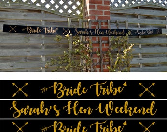 Personalised Bride Tribe Hen Night Banner - Bride Tribe Hen Party Range - Other Matching Sashes Available