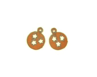Tennessee Tristars In Circle Rusty Metal Earrings (Sold As A Pair)