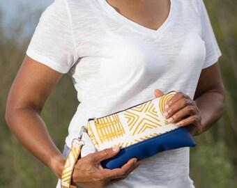 clutch purse, zipper fabric pouch, zipper travel pouch, pencil pouch, pencil case, cosmetic bag, make up bag, cosmetic bags, african clutch