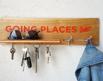 Magnetic Key & Coat Utility Rack