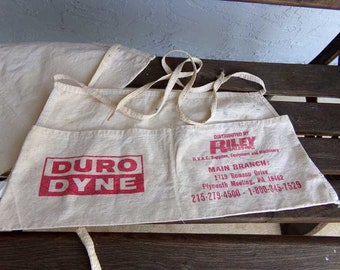 Tool apron, vintage tool apron, canvas tool apron, carpenter's apron