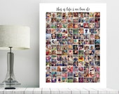 Instagram Collage, Instagram photo collage, Personalized Anniversary gift, Housewarming Gift, family gift, gifts for her, PRINTABLE