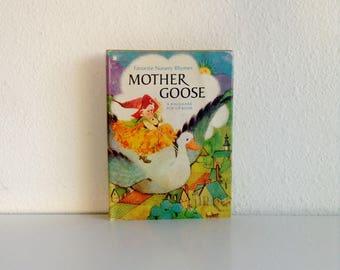 "Vintage 1983, Autographed Hallmark Pop Up Book, ""Mother Goose"" Illustrated by Pat Paris"