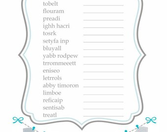 Baby Babble Jumbled Word Game