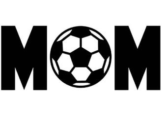 "FREE SHIPPING //  7x2.8"" Soccer Mom Sport Vinyl Decal - Team Spirit Decal - Little League - Vinyl Decal - Team Mom - Car Decal"