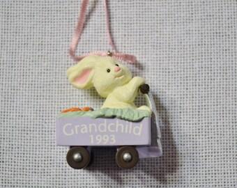 Vintage Hallmark Keepsake Ornament Easter Bunny Grandchild 1993 in Box PanchosPorch