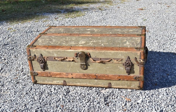 antique metal trunks vintage trunk crouch and fitzgerald low profile coffee table