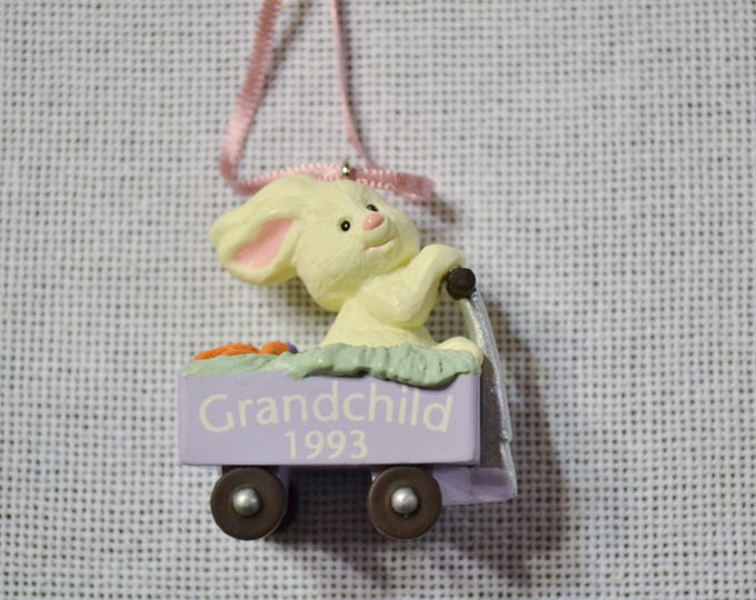 Vintage Hallmark Keepsake Ornament Easter Bunny Grandchild 1993 in Box PanchosPorch
