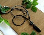 Black Onyx Long Necklace  Long Gemstone Beaded Necklace  Boho Necklace  Black Necklace  Pagan Jewellery  Boho Jewellery  Boho Luxe