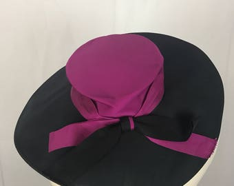 Beautiful Navy and Pink Hat