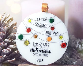 Personalized Our First Christmas Ornament Married Our First Christmas Together Ornament Just Married Custom Ornaments Christmas Gift#002
