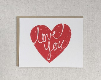 Love You Note Cards - 8 pcs