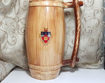 Vintage De Paul University Beer Stein Extra Large Ceramic Memorabilia / Home  Bar Decor Man Cave