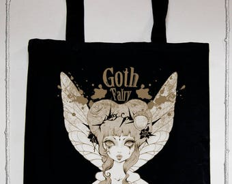 "Tote bag ""Goth Fairy"""