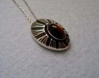 Pendant. Silver and Stone. Finland. Vintage.