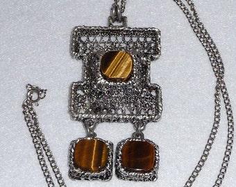 Tapani Vanhatalo (Finland). Pendant. Silver Plated Pewter. Vintage.