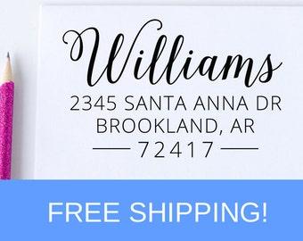 Return Address Stamp, Custom Address Stamp, Self Inking Address Stamp, Christmas Gift, Housewarming Gift  (D307)