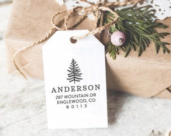 Custom Return Address Stamp With Trees, Wedding Address Stamp, Wedding Gift, Housewarming and Holiday Gift For Her, DIY Wedding Invitation,