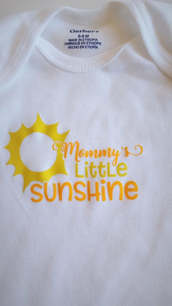 Mommy's Little Sunshine Baby Bodysuit